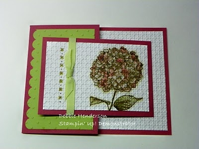 Joy Fold card ~ Like the color of the flower too.