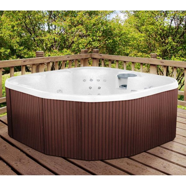lifesmart rock solid sierra plug and play spa with 20 jets