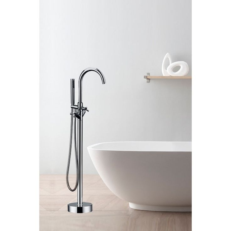 Single Handle Freestanding Contemporary Floor Mount Tub Filler with Hand  Shower 1511 best Best freestanding tub faucets images on Pinterest   Room  . Shower Tub Faucet Reviews. Home Design Ideas