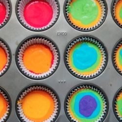 #138914 - How to Make Rainbow Cupcakes By TasteSpotting: Bottlecap, Impressions Cupcake, Fun Recipe, Color, Cupcake Rainbows, Rainbows Cupcakesdrop, Easy Schools Cupcake, Parties Ideas, Rainbow Cupcakes