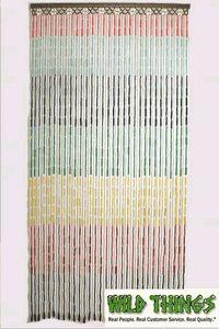 Beaded Curtain: Rainbow Wooden Door Beads