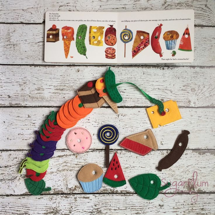 New to SugarPlumMonkey on Etsy: Very Hungry Caterpillar Complete Lacing Game