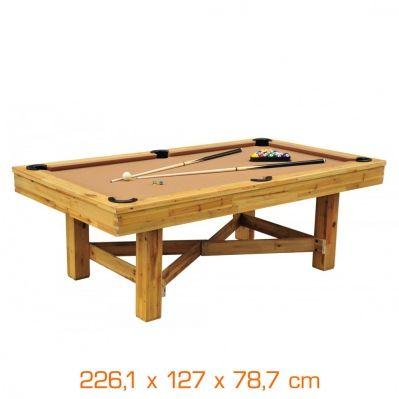 Billard Américain Prestige - Cedar Wood - 226,10 x 127 x 78,7cm - Brico Privé