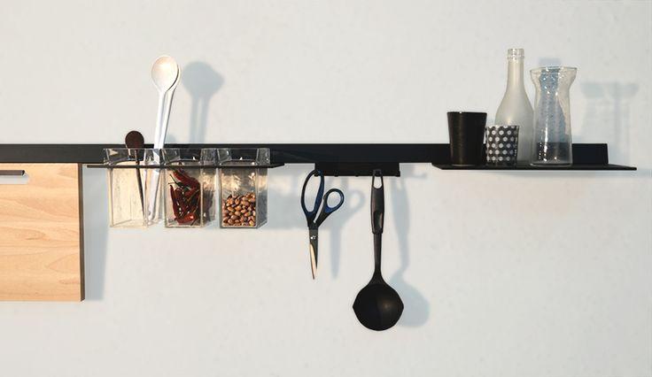 Domusomnia easy rail leaf barra attrezzata per cucine - Barra attrezzata cucina ...