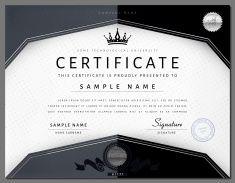 Geschenk modernen Luxus-Zertifikat Vorlage mit Elementen vector art illustration