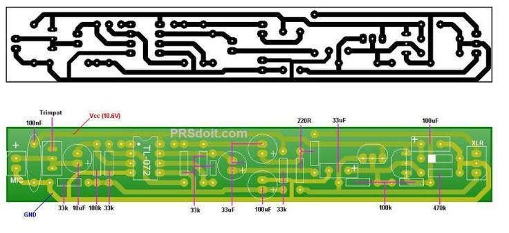 Microfone Condensador PCB