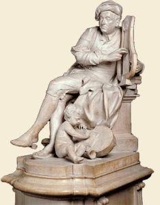 'Handel', statue, Louis François Roubiliac