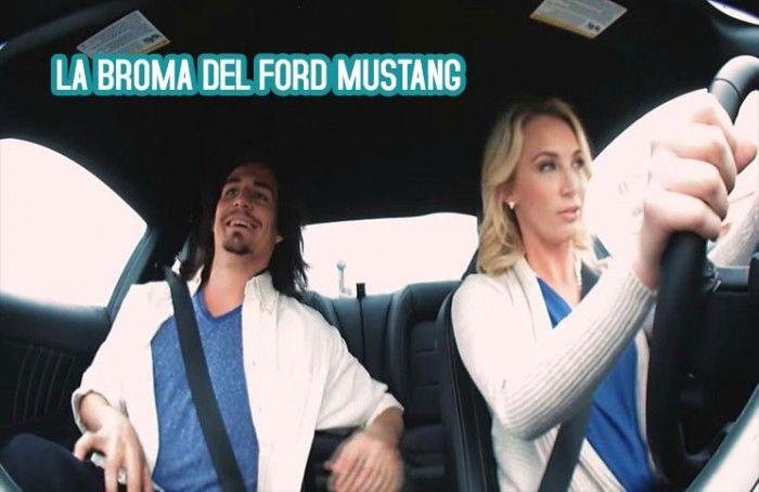 BROMA DE CITA A CIEGAS: Una cita a ciegas que termina con una conductora de acrobacias. Genial video para promocionar el Ford Mustang 2015  Atención mujeres, sé que este video les va a gustar a muchas.  http://mclanfranconi.com/la-broma-del-ford-mustang-cita-a-ciegas-y-una-conductora-de-acrobacias/