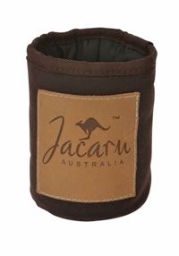 5068 Oiled Cotton  Can Cooler by Jacaru. Leather Branding Patch with your Logo.