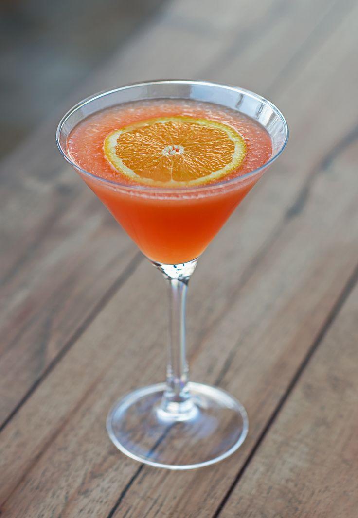 Tito's vodka, Solerno Blood Orange liqueur and blood orange juice.