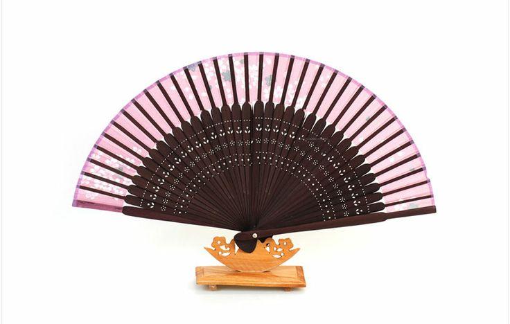 Traditional Folding Fan -Mini Fan [Pink]