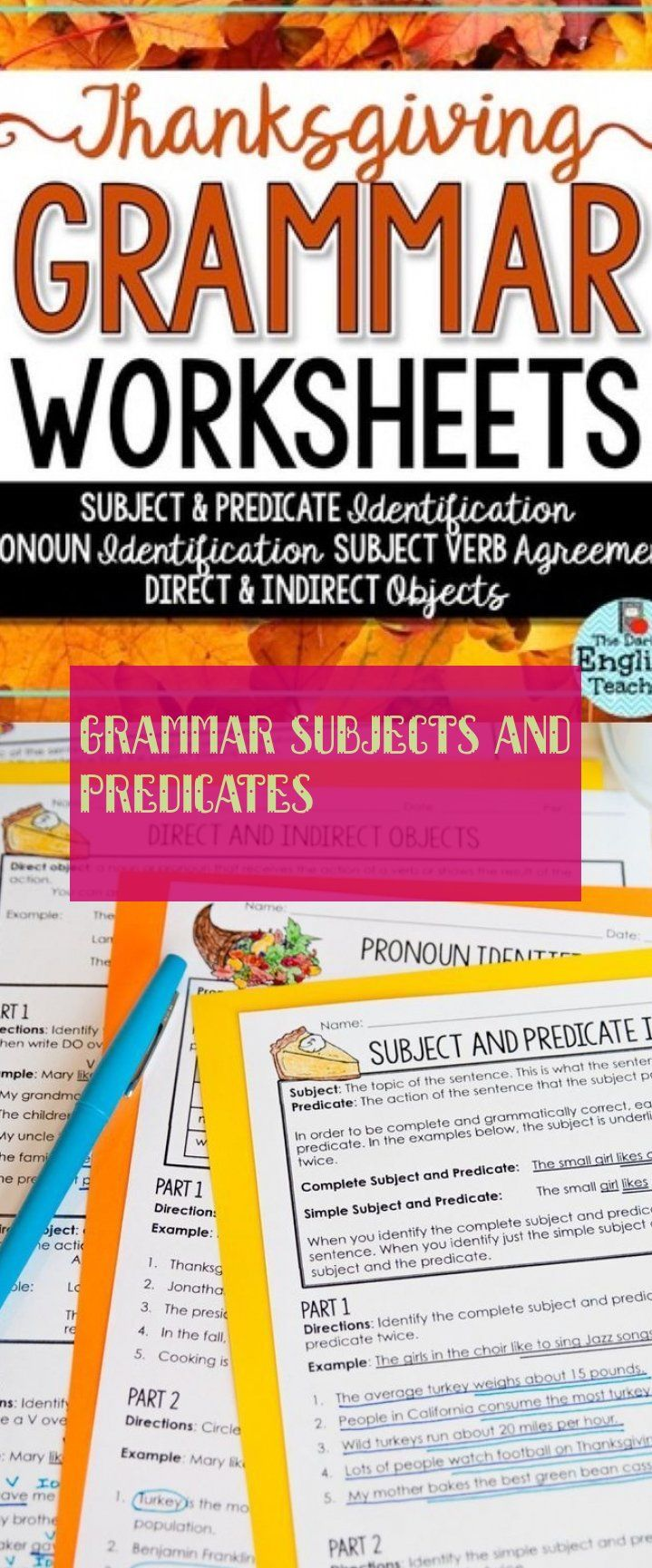 Grammatikfacher Und Pradikate Education Teaching Grammar Subject And Predicate Grammar Worksheets [ 1729 x 719 Pixel ]