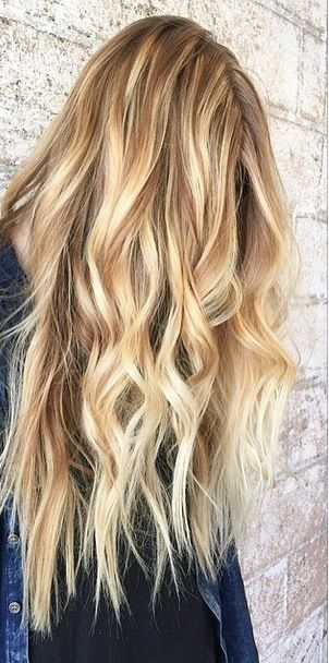 honey blonde and caramel toned balayage highlights