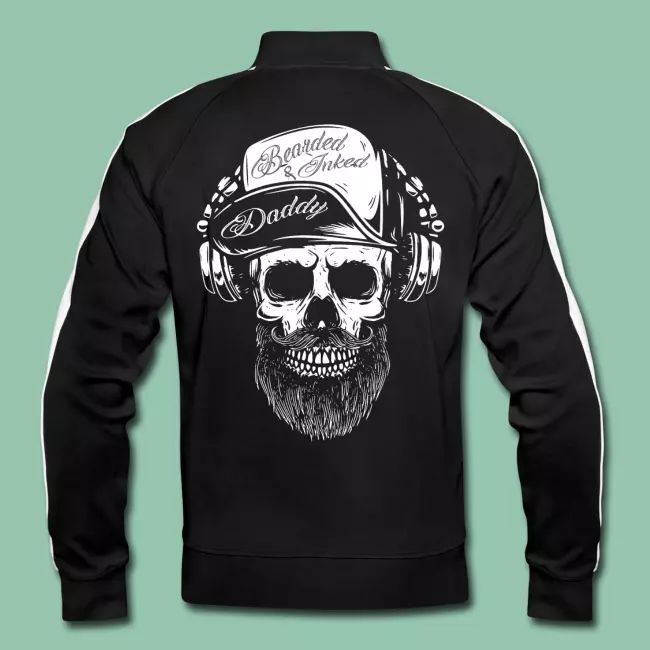 Beard Style Inked Bearded Daddy Skull Dad – Trainingsjacke für Herren   – T-Shirts – Shop:   RS CUSTOMSTYLEZ