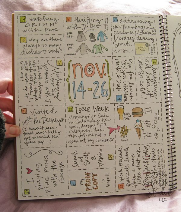 Daily Journal Project ~ p. 43 by gina sekelsky studio LOVE this!!