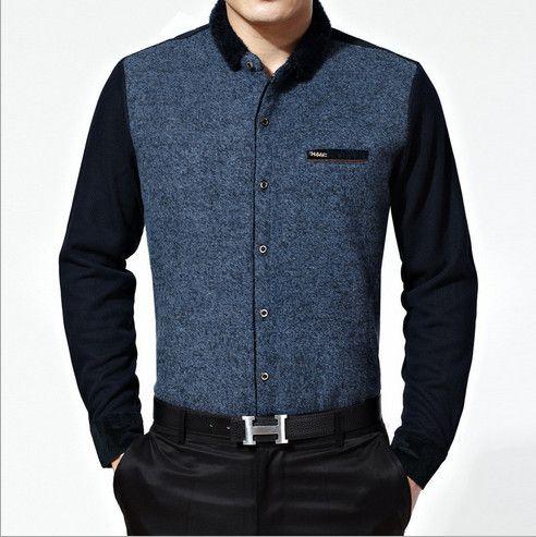 Дешевое Зимний мужской рубашки с плюшевые новый высокое качество мужская свободного покроя рубашки теплый кашемировый рубашки легкий уход за кожей мужские футболки мода 2014, Купить Качество рубашки домашние муж. непосредственно из китайских фирмах-поставщиках:                      Зимние мужские рубашки с плюшевые новый высокого качества для мужчин, Рубашки повседневные теплый к