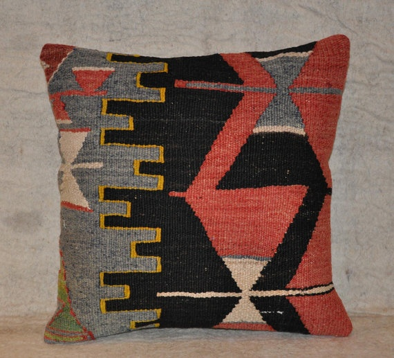 hand woven vintage kilim pillow cover