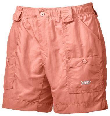 AFTCO Original Fishing Shorts for Men - Coral - 40