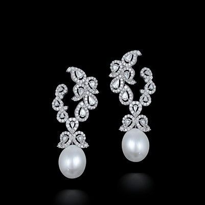 Beautiful Diamond Earrings With Pearl Pinterest Pearls And