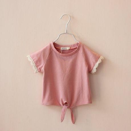 Европейских и американских женская одежда 2014 лето новый корейский корейские дети хлопка с коротким рукавом футболки ребенок вершины приток ...