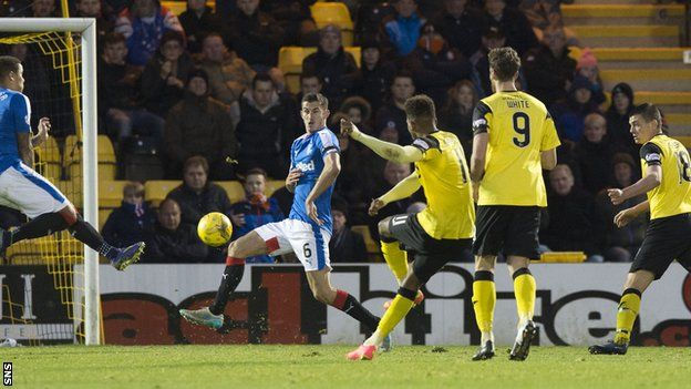 A dogged and determined performance earned Livingston a point against Scottish Championship leaders Rangers. Rangers enjoyed the bulk of possession and went ahead through Jason Holt when he pounced on a loose ball. Livingston had few opportunities of their own, but crucially took one of them - Miles Hippolyte beating Wes Foderingham from just outside the box. Rangers pressed for a winning goal, but the home side held firm.