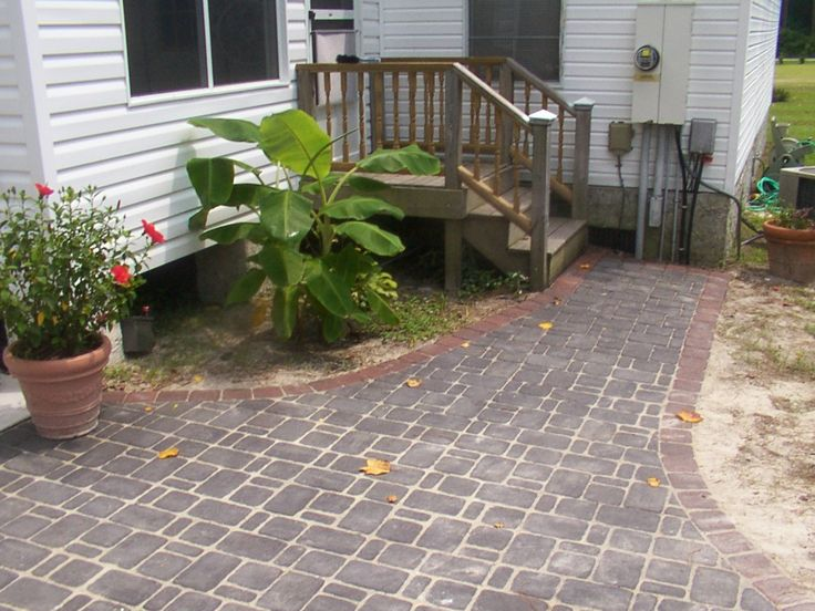 how to build a brick patio instructions and installation patterns ideas swingplanscom - Patio Walkway Ideas