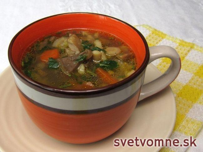 Hlivová polievka s rajbaničkou