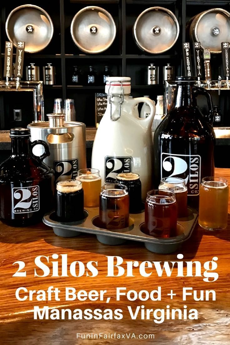 Virginia Travel, Craft Beer, Music. 2 Silos Brewing brings craft brews, a tasty menu, an indoor-outdoor gathering place, and a cool vibe to the new Farm Brew Live complex in Manassas Virginia. #craftbeer #virginia #dining