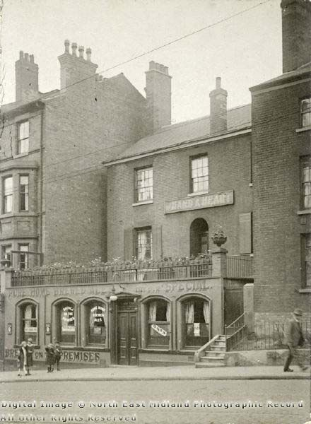 The Hand & Heart was situated at 65 Derby Road and closed in 2007. Photo 1926