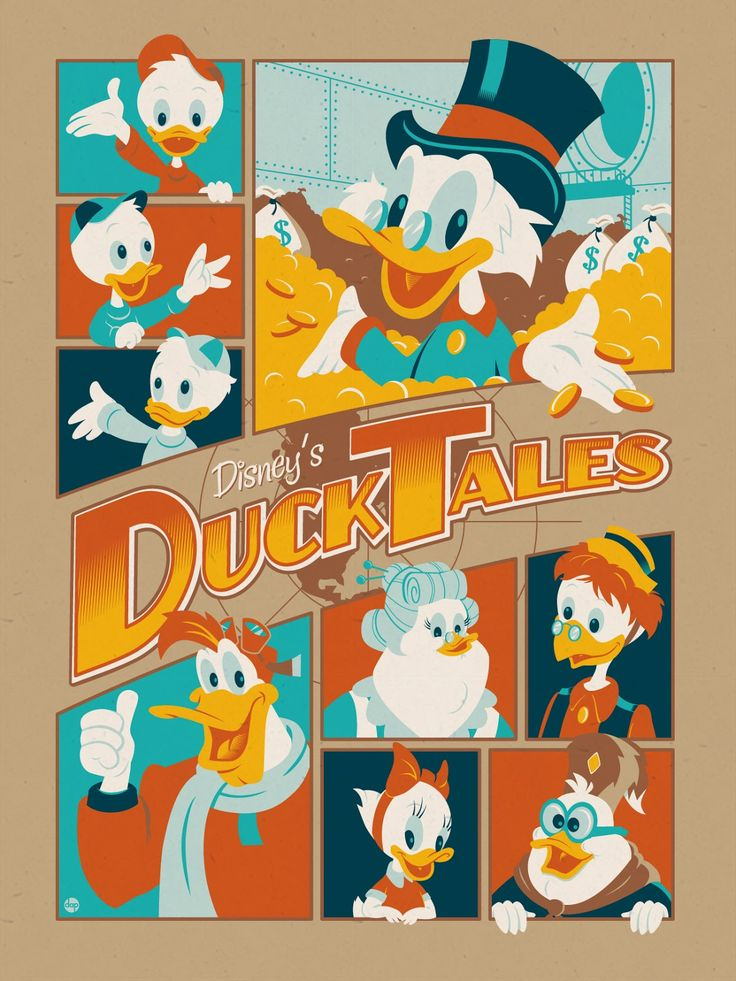 Duck Tales poster by Montygog