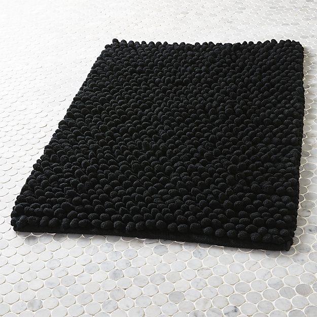 cirrus black bath mat - Bathroom Mats