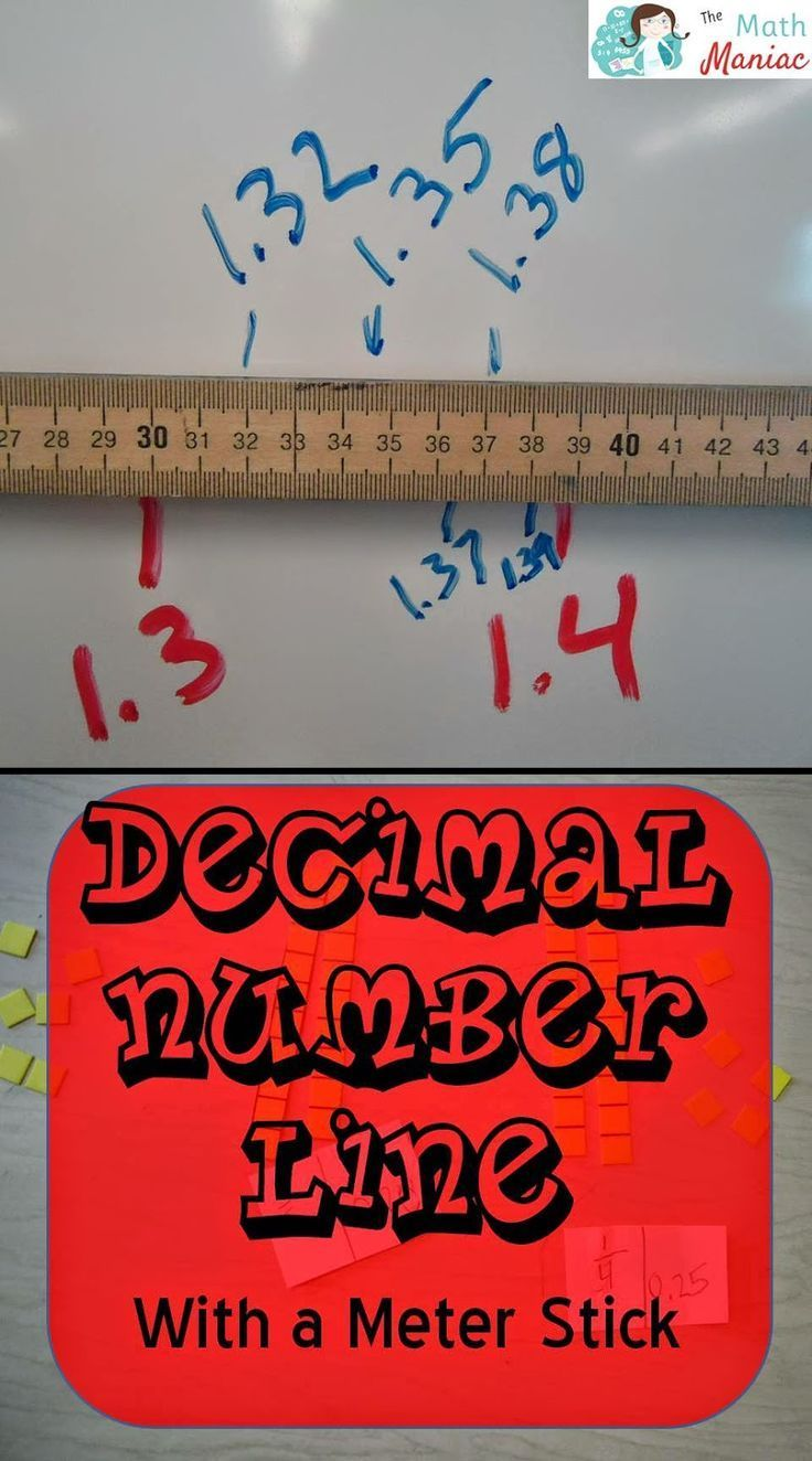 A meter stick makes a great decimal number line! Head over to the Math Maniac blog to read more!