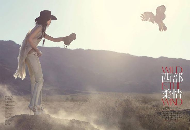 Wild is the Wind – Liu Wen takes on the role of cowgirl for the May issue of Vogue China where she works with photographer Mark Segal. With makeup by Frank Reps Yumi Mori, Liu is the very picture of old west ruggedness combined with elegance as she sports a wardrobe of denim, fringe and …