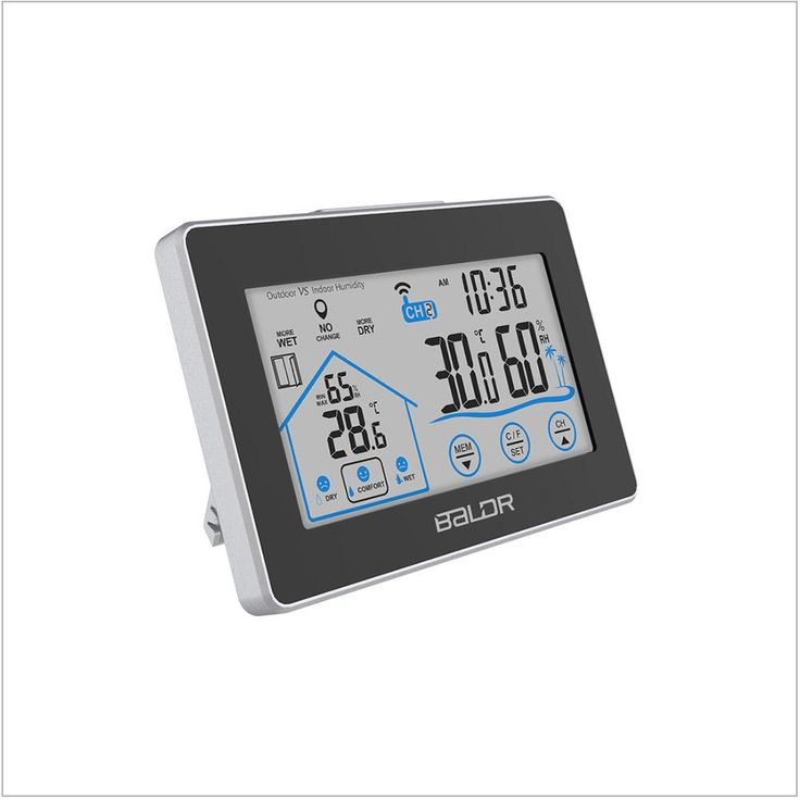 Buy best LCD Touch Button In/Outdoor Thermo-Hygrometer at BALDR Electronics. With this thermometer you can simplify reset the temperature and humidity. Includes all-time / 24 hours high and low records for temperature and humidity.