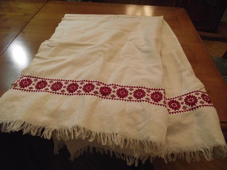 Homespun embroidered tablecloth Antique Linens Estate Oblong Hungarian Hand Natural Linen Farmhouse Tablecloth 1930s gift traditional folk by RussianshawlMayya on Etsy