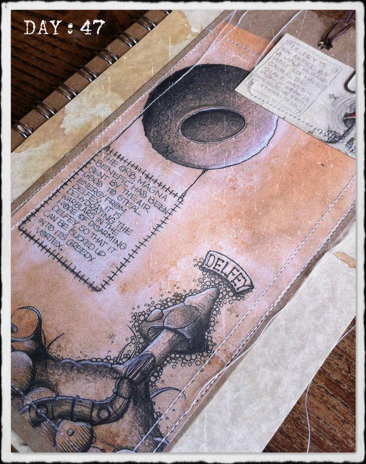 Mushroom journal art by Traci howard