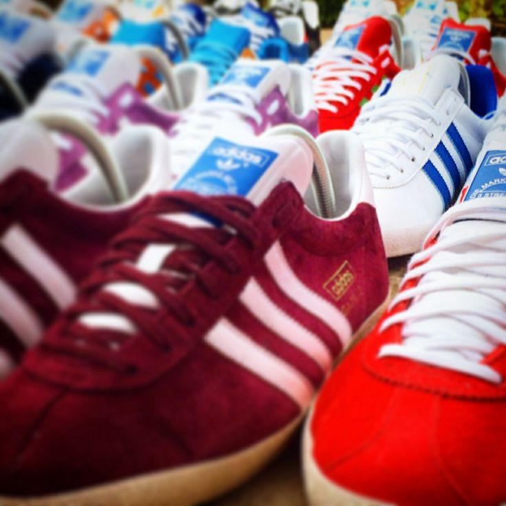 red adidas shoes originals superstar adidas gazelle blue style background