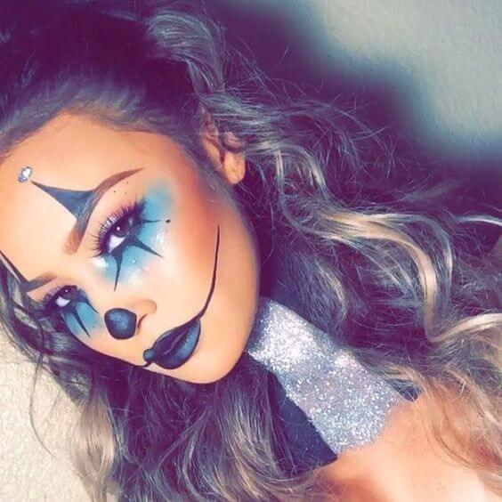 Sexy-Clown Makeup für Halloween