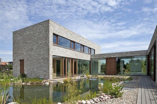 Pond Inspired Swimming Pool at Beautiful Villa Hendrikx Residence