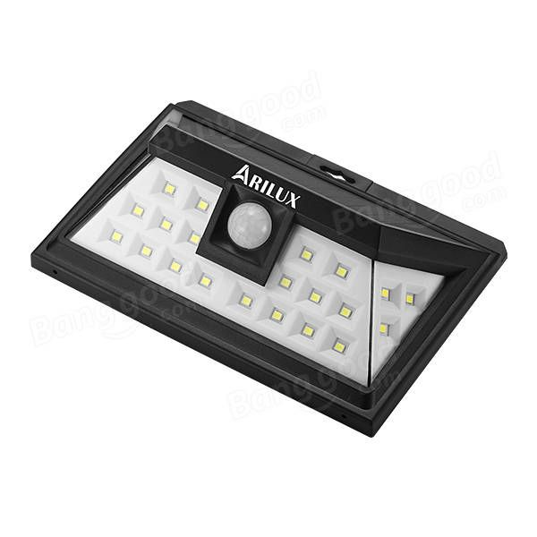 ARILUX® AL-SL09 Solar Power 24 LED Waterproof PIR Motion Sensor Light Outdoor Wide Angle Wall Lamp Sale - Banggood.com