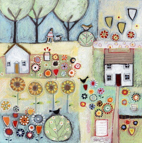 Louise Rawlings Art UK.藝術家路易絲·羅林斯的美麗的花卉風格藝術世界(二)。。。 - ☆平平.淡淡.也是真☆  - ☆☆milk 平平。淡淡。也是真 ☆☆