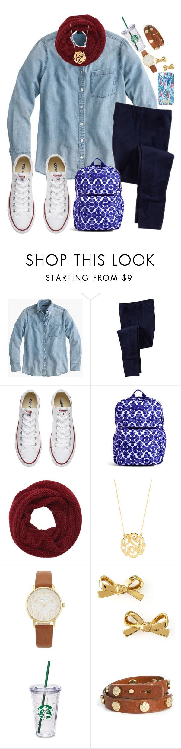 """""""Contest set 1"""" by lbkatie17 ❤ liked on Polyvore featuring J.Crew, Old Navy, Converse, Vera Bradley, Wyatt, Lilly Pulitzer, BaubleBar, Kate Spade, Starbucks and Tory Burch"""