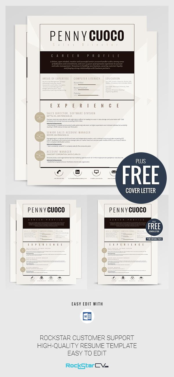 Download instantly this beautiful, professional resume template that