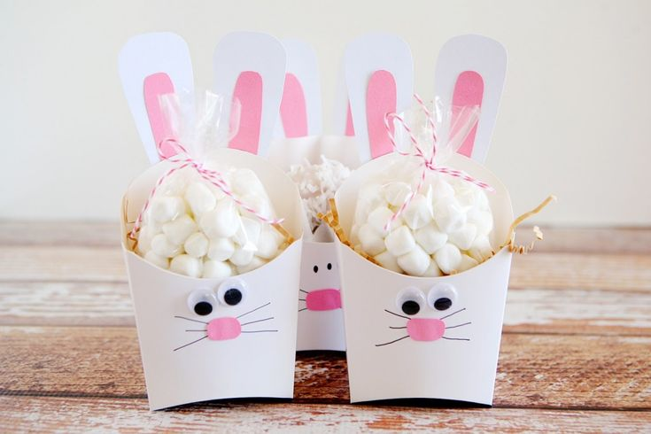 Fry Box Bunny – Easter Treat Containers – Ostern