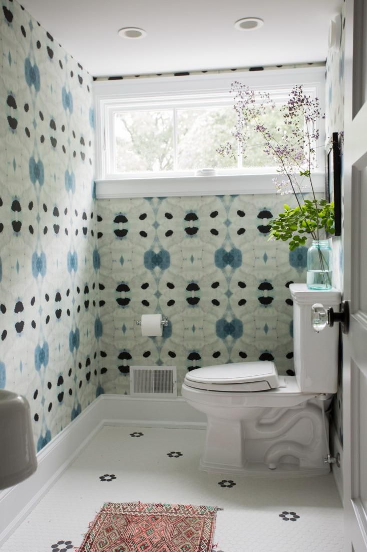 Home decoration, Great Wallpaper Decoration For Modern Bathroom Interior: 5 steps of decorating interior with wallpaper