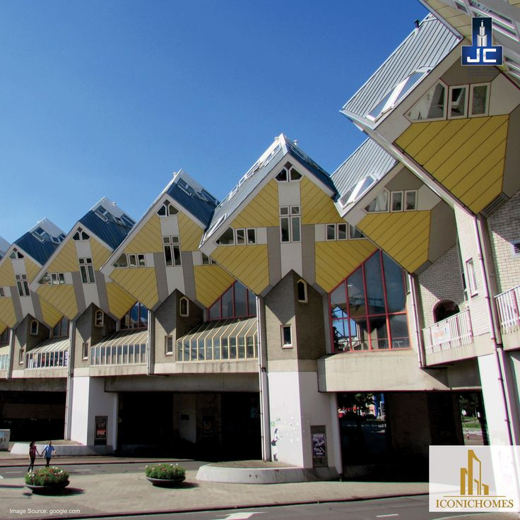 These Cubic Houses in Rotterdam, Netherland is a housing designed on top of a pedestrian bridge by Piet Bolm. The cubes are tilted and has sat on hexagon-shaped pole structures. The cubes contain the living areas, which are split into three levels. Now thats called ABSTRACT!