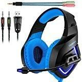 ONIKUMA K1 Gaming Headset, 3.5mm PC Stereo Gaming Headset for PS4 / Xbox One S, Bass Headphones with Soft Tube.