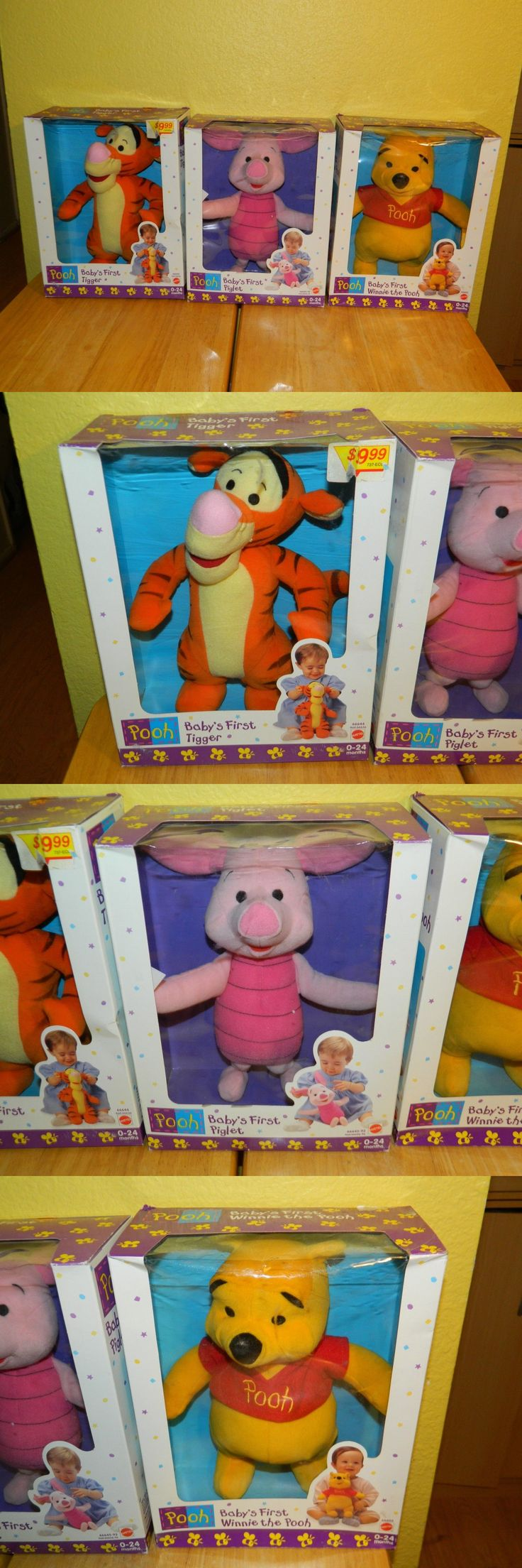 Winnie the Pooh 19251: Lot Of 3 Pooh Baby S First Tigger Piglet Winnie The Pooh Mattel Plush Animals -> BUY IT NOW ONLY: $71.99 on eBay!
