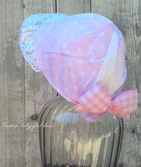 Sunshine bonnet - nyári kalap, főkötő, romantikus, vintage stylusban (MamaBaba) - Meska.hu