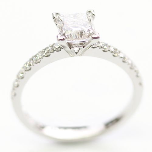 63 Best Diamond Set Band Engagement Rings Images On Pinterest